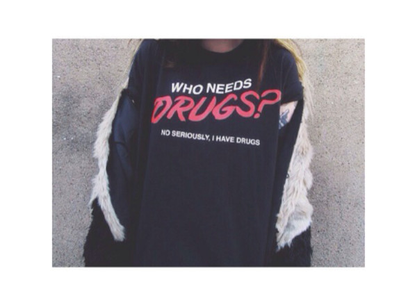 t-shirt shirt drugs t-shirt