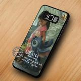 Cartoon Ohana Lilo and Stitch Quote - Samsung Galaxy S8 S7 S6 Note 8 Cases & Covers #SamsungS8