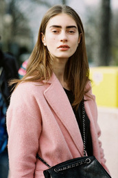 vanessa jackman,blogger,pink,coat