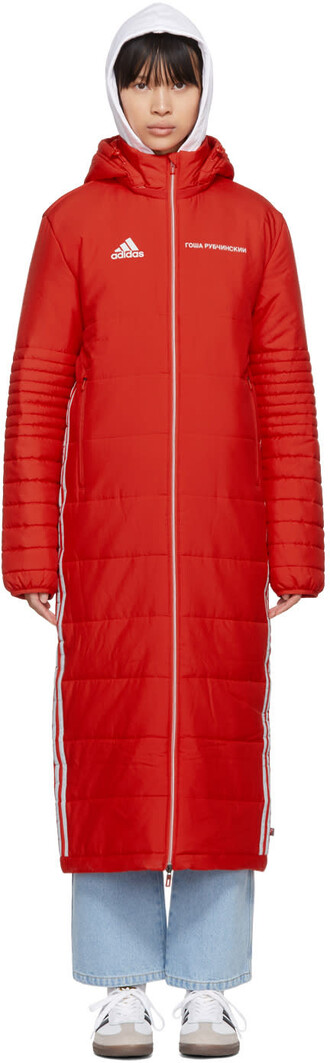 coat adidas originals red