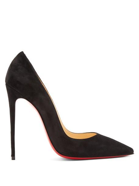 christian louboutin suede pumps pumps suede black shoes