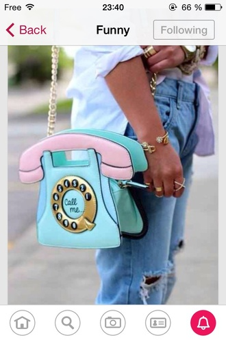 bag cellphone phone cute pastel colors cool fantasy beautifull blue pink pinky blue