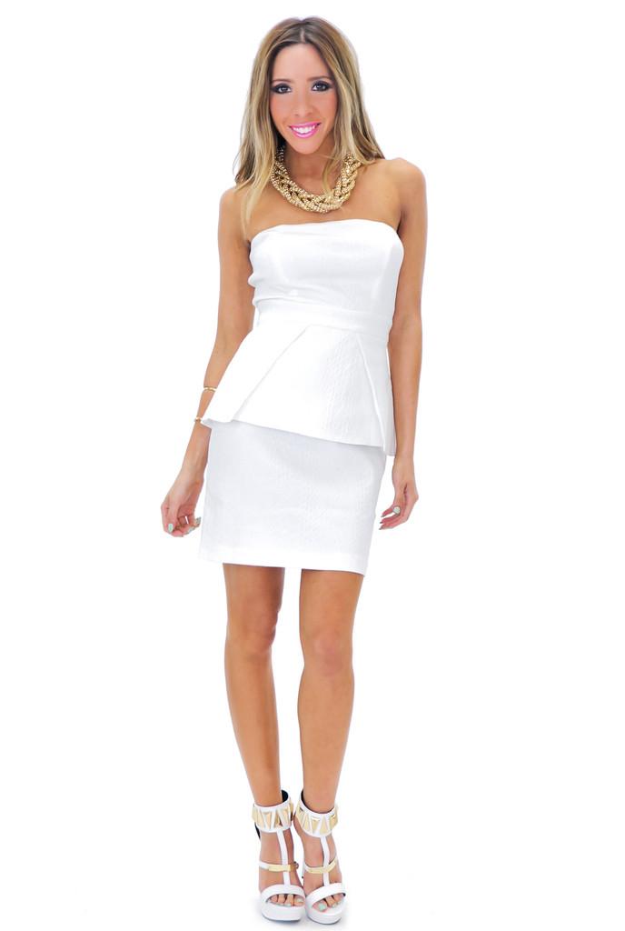 SANIA STRAPLESS PEPLUM DRESS | Haute & Rebellious
