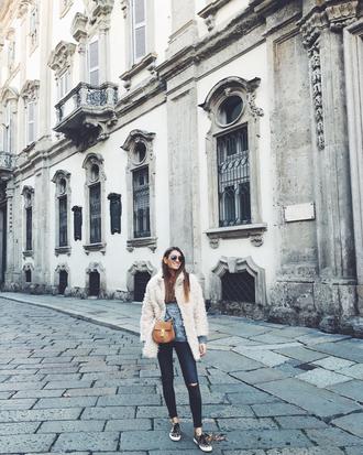 b a r t a b a c blogger sweater jeans shoes jacket bag sunglasses
