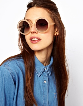 ASOS | ASOS Nude Round Sunglasses at ASOS