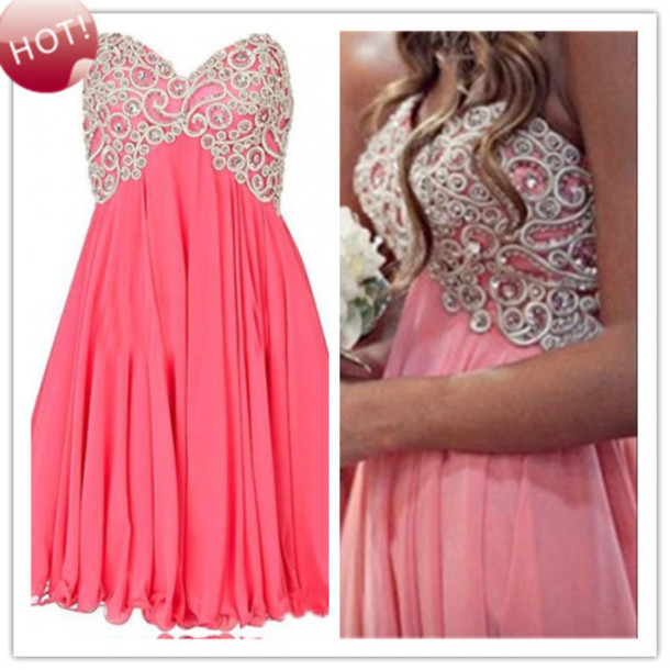 teen girls party dress gowns, short prom dress, short prom dress ...