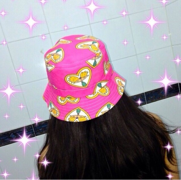hat pink hey arnold bucket hat