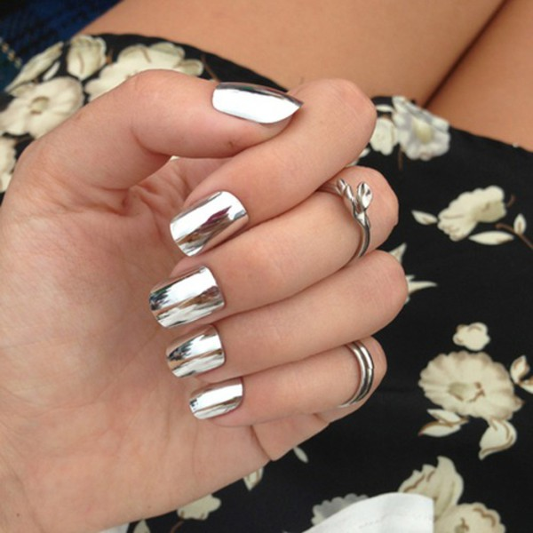 nail polish mirror metallic nails