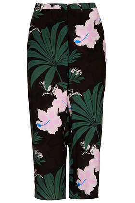 Jungle Silk Wide Leg Trousers - Trousers - Clothing - Topshop