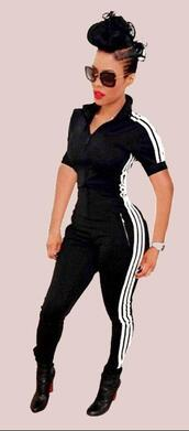 jumpsuit,adidas,adidas stripe,adidas tracksuit,adidas leggings,adidas sweater,adidas sweats,sportswear,sport suit,bodycon,bodycon romper,bodycon jumpsuit,overalls,zipper romper,zip,deep v,deep v romper,deep v jumpsuit,casual,women casual,casual suit,one piece,striped romper,striped jumpsuit,striped leggings,gym,workout,workout leggings,fitness,sexy fitness clothing,joggers,sweats,sweatshirt,sweatpants,black sweatpants,street,urban,style,sexy,sexy romper,sexy jumpsuit,sexy outfit,tumblr girl,tumblr outfit,hot,cool,cute,girl,girly,girly wishlist,moraki,front zipper jumpsuit,stripes,black striped leggings,adidas sweatpants,streetstyle,streetwear