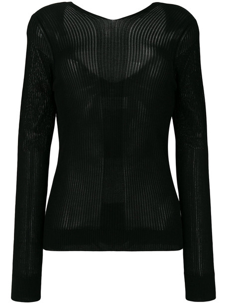 MAISON MARGIELA top women cotton black