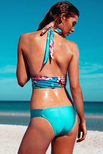 swimwear stretchy straps custom fitting gathered mini pant robb and lulu moderate coverage bottom