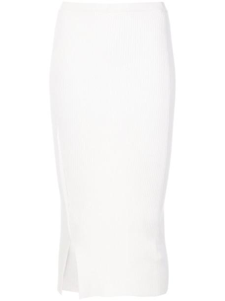 Victoria Beckham skirt knitted skirt women white wool
