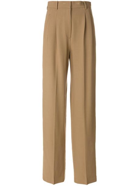 theory pants high waisted pants high waisted high women spandex nude wool