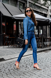 jeans,denim,top,sunglasses,shoes,bag