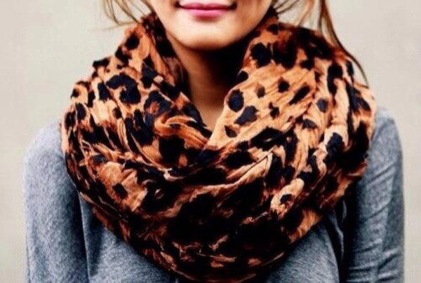 scarf cheetha print leopard print print brown