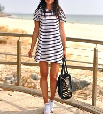 dress summer dress striped dress cute dress