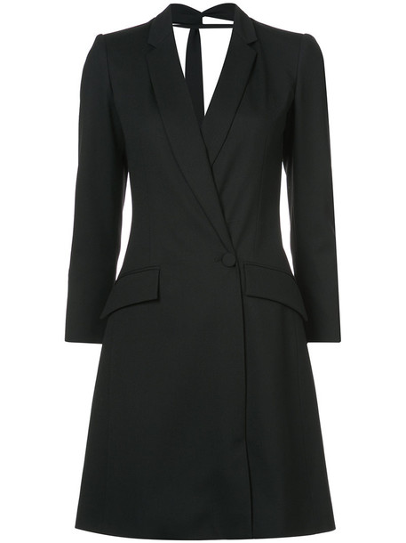 Carolina Herrera dress blazer dress back open women spandex black silk wool
