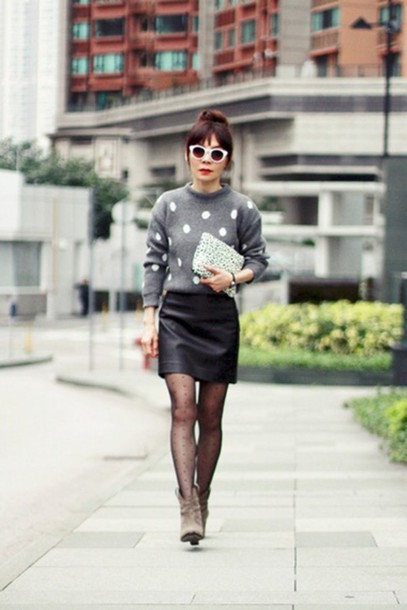 skirt espiri swag style cardigan tights bag shoes