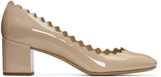 Chloe heels beige shoes