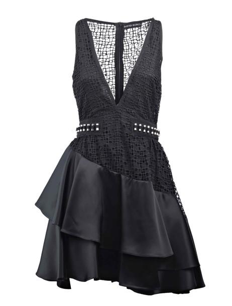 david koma dress black