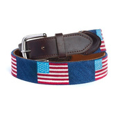 belt,american flag belts,american flag needlepoint belts