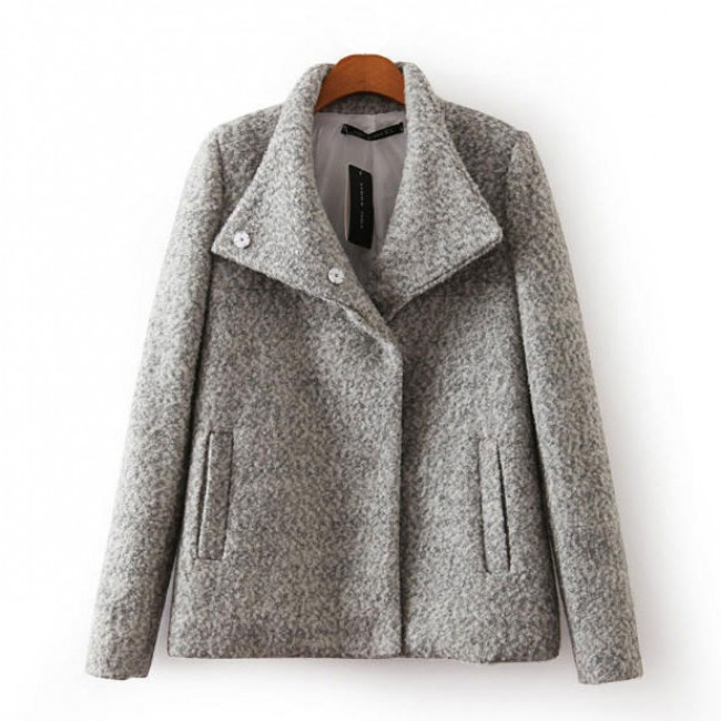 High Collar Grey Coat