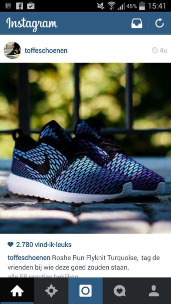 ac7c36a8370b nike roshe run nike roshe run flyknit turquoise nike sneakers shoes