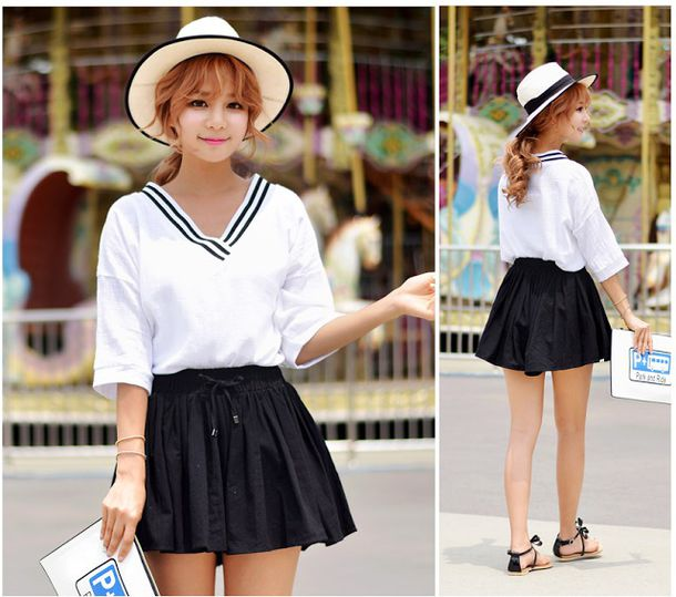 Shirt korean fashion korean fashion minimalist sailor for Korean minimalist house