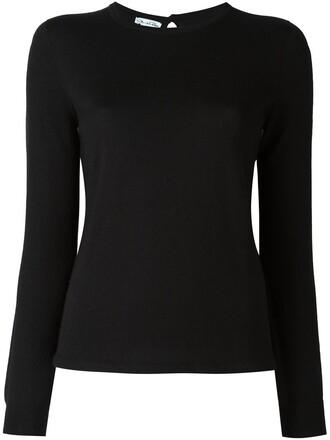 jumper women classic black silk sweater