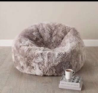 home accessory grey fluffy