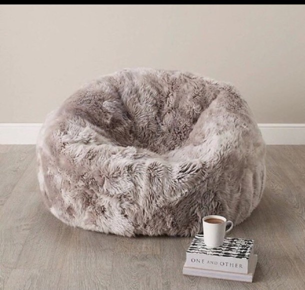 home accessory grey fluffy