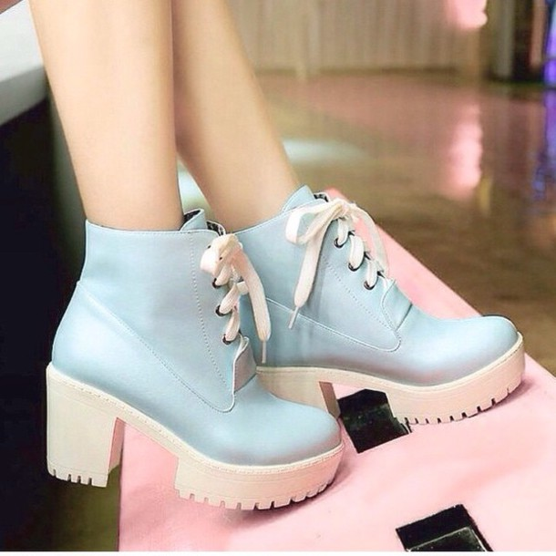 Shoes Heels Pastel Platform Shoes Wheretoget