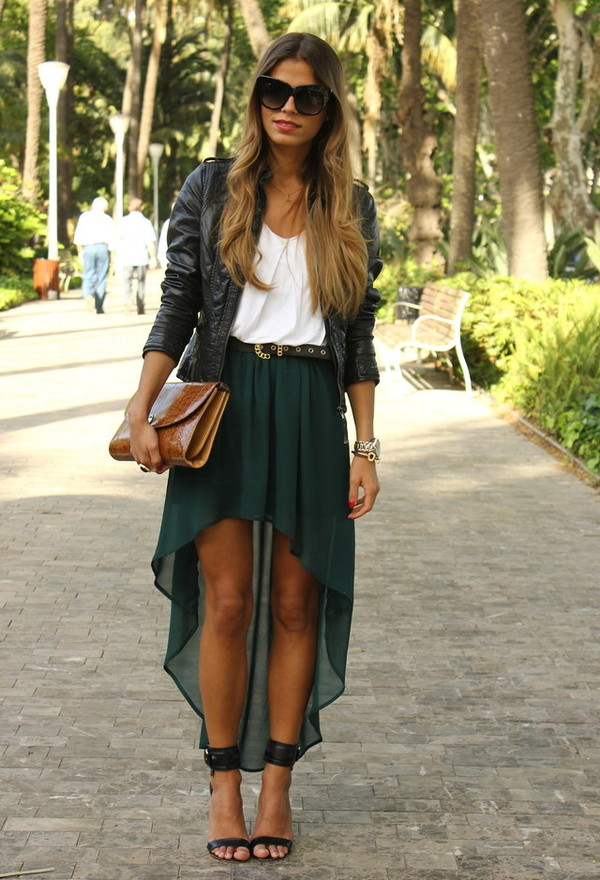 skirt zara teal skirt emerald green
