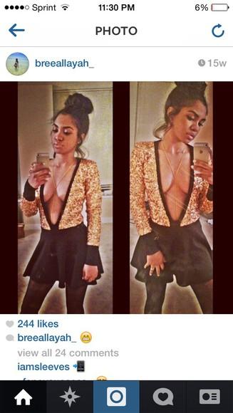sequins blouse shirt vneck