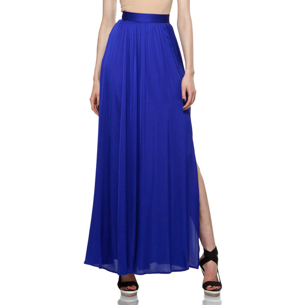 zoe venessa maxi skirt in royal blue polyvore