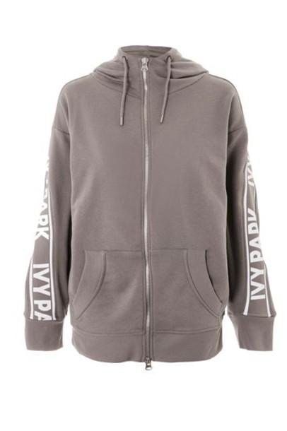 Topshop hoodie grey sweater