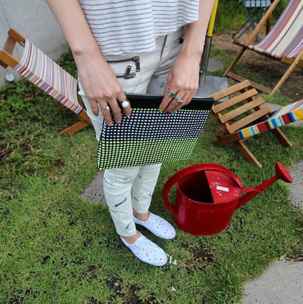 bag clutch handmade leather weaving aclyyarn