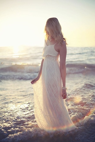 ivory maxi beach maxi dress hipster wedding boho wedding dress