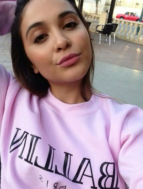 sweater pink ballin hudgens stella hudgens hipster california msfts alex and chloe alex & chloe ballin paris sweatshirt balmain girl pretty