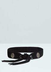 belt,western belt,fringes,suede