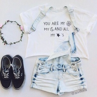 moon hipster tumblr indie alternative coachella concert cute outfit cute outfits stars quote on it hair accessory shoes t-shirt