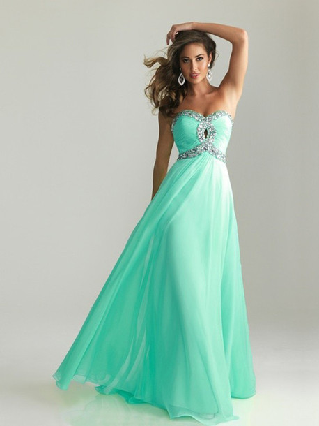 dress, dress, prom, prom dress, mint dress, silver, sequins, sequin ...