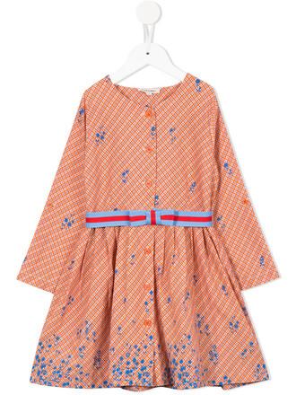 dress girl toddler yellow orange