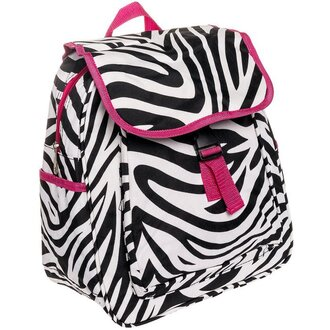bag pink and white with black zeebra