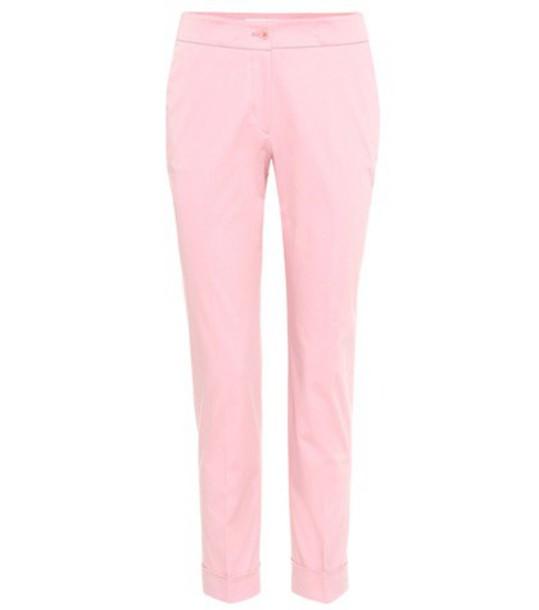 ETRO cotton pink pants