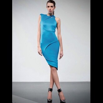 dress zhivago marine blue blue dress black dress citron yellow dress stunning dress special occasion dress high-fashion look neoprene high neck overlay body fitted dress figure flattering