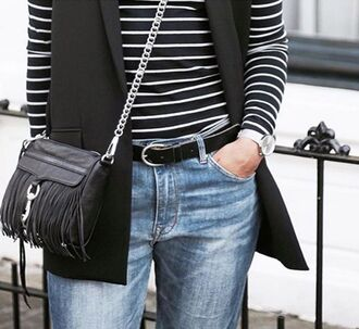 bag rebecca minkoff mini mac black leather fringes fringed bag crossbody bag chain crossbody revolve clothing revolve revolveme