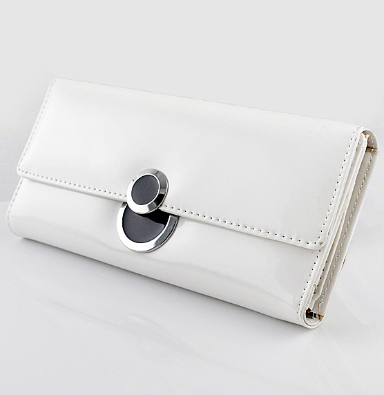 White PU Leather Clutch Bag - Sheinside.com