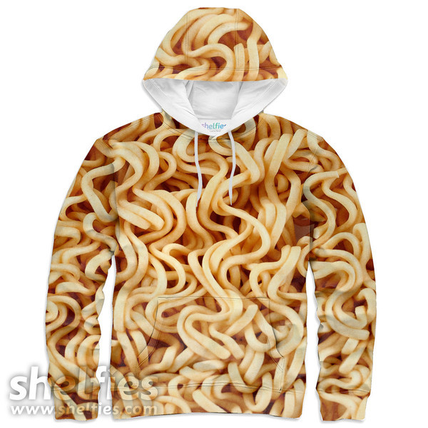 ramen noodles food hoodie shelfies printed sweater